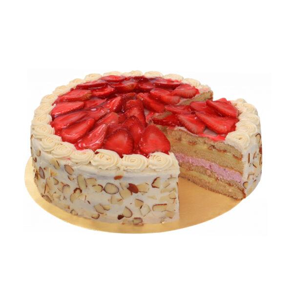 pastel fresas con crema