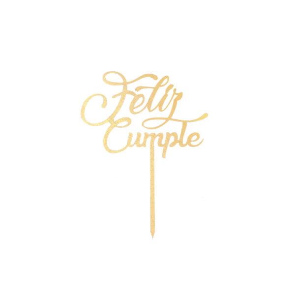letrero cake topper
