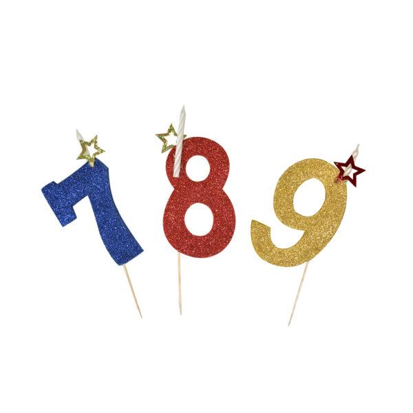 Velas número cumpleaños
